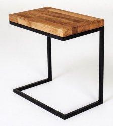 Stolik metalowy z drewnianym blatem - Functional - Mały