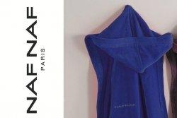 Szlafrok - Granatowy - NAF NAF - L - 100% Bawełna