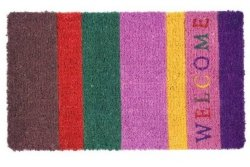 Wycieraczka wejściowa - Welcome striped - 44 x 74 x 2 cm