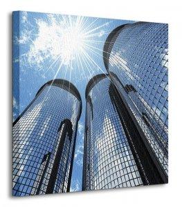 High modern skyscrapers - Obraz na płótnie