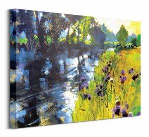 Obraz na ścianę - Sun and Meadow Thistles - 50x40 cm