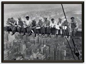 New York Robotnicy - obraz w ramie