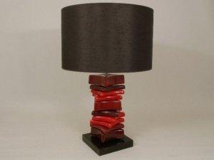 Lampa stołowa - Czerwień Kamyk - 40x60cm