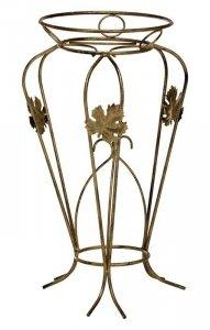 Kwietnik metalowy - Stojak na kwiaty - Juka z listkami 1-ka