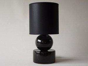 Lampka nocna - Czarna - PERLA I - 20x39cm