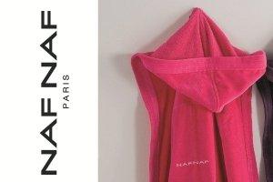 Szlafrok - Różowy - S - 100% Bawełna - NAF NAF