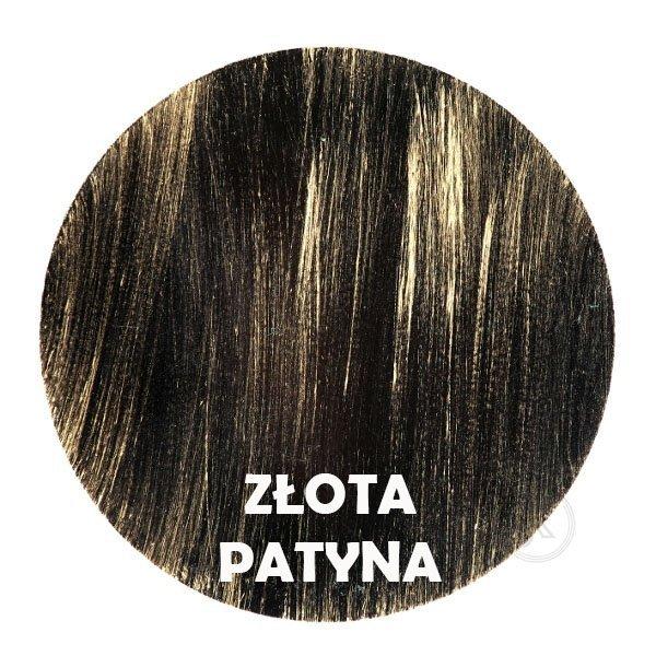 Złota patyna - kolorystyka metalu - Kwietnik metalowy - Okno - DecoArt24.pl