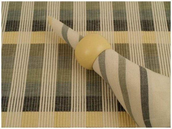Podkładki na stół + Serwetki + Obrączki na serwetki x 4-szt - szarość, wanilia, kość słoniowa,