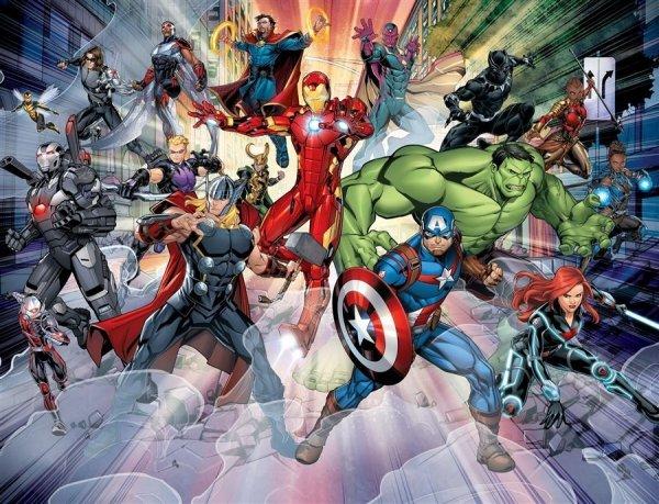 Fototapeta do pokoju dziecka - Avengers 2 - 3D - Walltastic