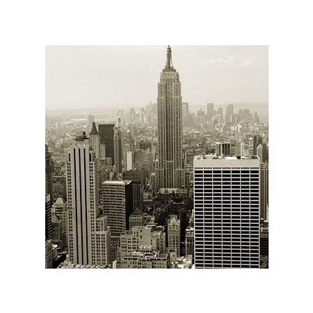 Manhattan panorama - sepia - reprodukcja