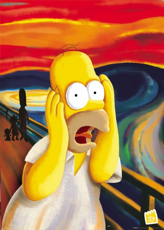 Simpsons (Scream) - plakat