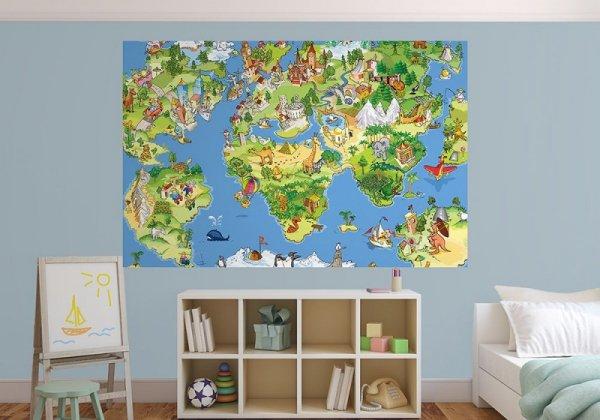 Fototapeta dla dzieci - Mapa Świata -  decoart24.pl