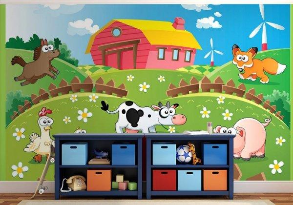 Fototapeta dziecięca  - Farma i zwierzaki - Sklep decoart24.pl