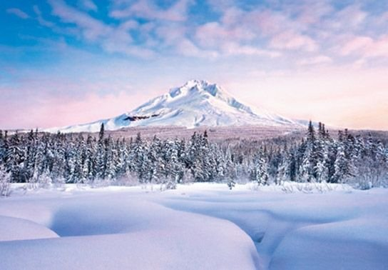 Fototapeta do pokoju - Śnieżna Góra - 366x254cm
