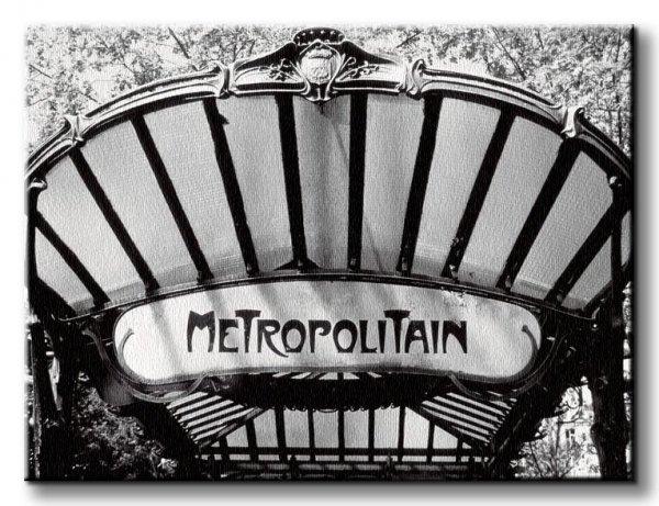 Obraz na płótnie - Metro Entrance, Paris - 60x80 cm