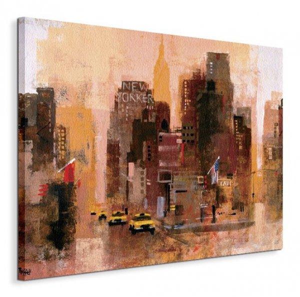New Yorker & Cabs - Obraz na płótnie