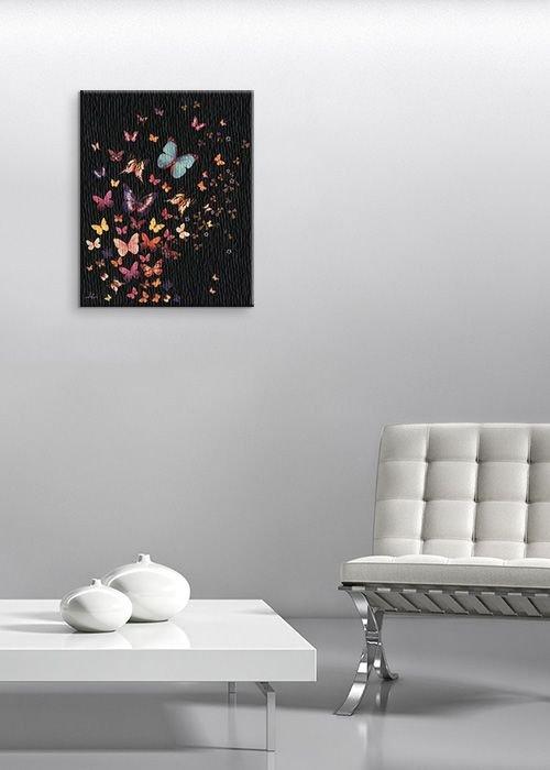 Midnight Butterflies - Obraz na płótnie
