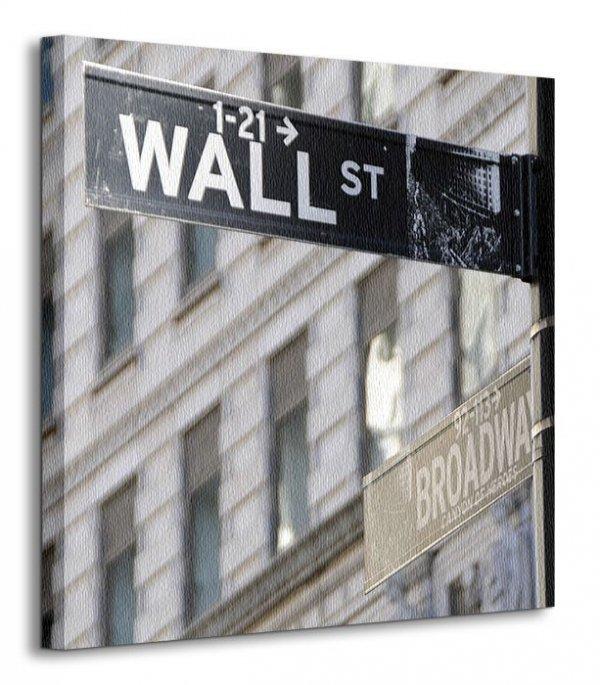 Obraz na płótnie - Wallstreet Ecke Broadway NY - 40x40 cm