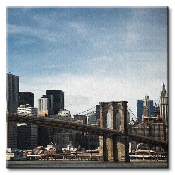 Obraz na płótnie - Brooklyn Bridge - 40x40 cm