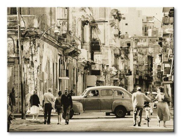 Obraz do salonu - Havana Street, Cuba - 80x60 cm