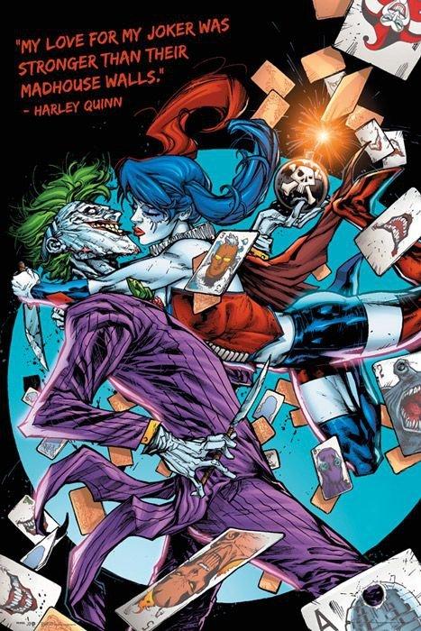 DC Comics - Harley Kiss - plakat