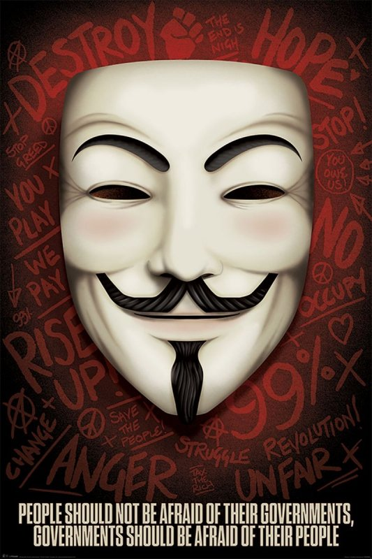 V jak Vendetta - plakat filmowy