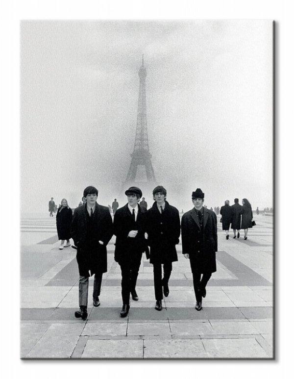The Beatles Paris - obraz na płótnie