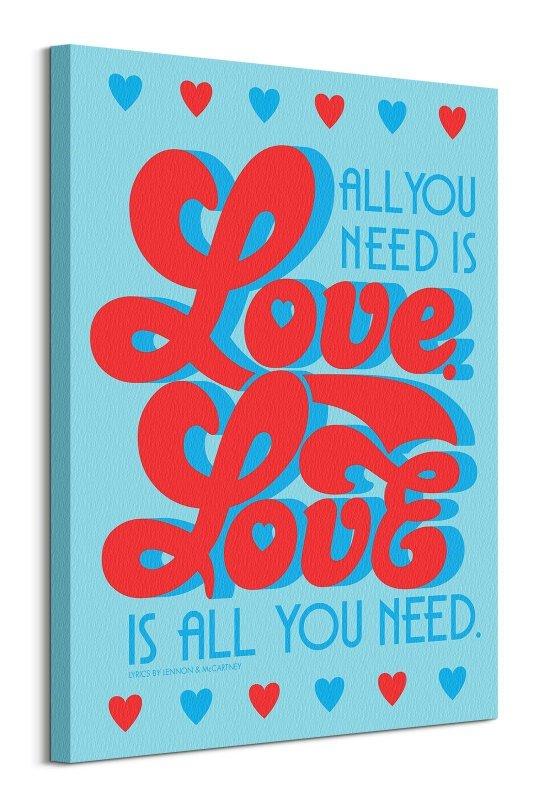 Lennon & McCartney All You Need Is Love - obraz na płótnie