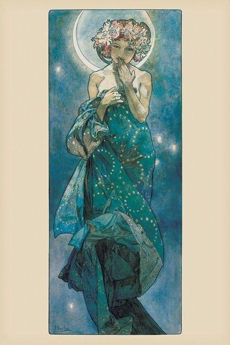 Mucha (Moon) - plakat