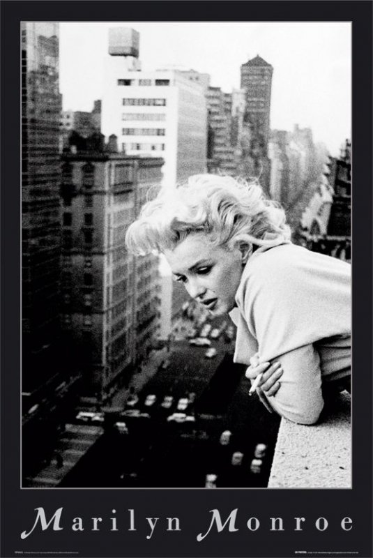 Marilyn Monroe (w oknie) - plakat