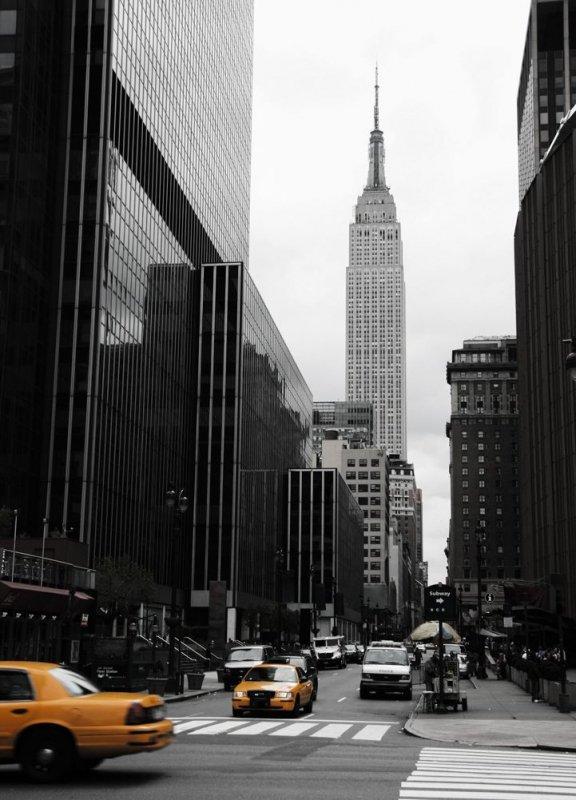 Fototapeta Emipre State Building, Manhattan - Sklep z tapetami decoart24.pl