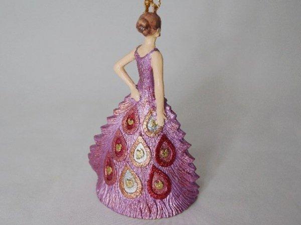 Ozdoba choinkowa - Lady Róż - 11,5cm - (6szt. w opakowaniu)