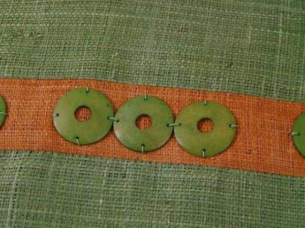 Poszewka dekoracyjna - Zielona - Z rafii - 45x45cm