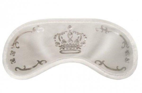 Opaska na Oczy - Wzór Swarovski Crown white