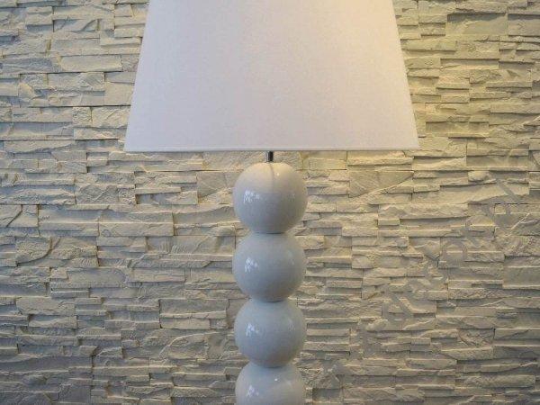 Lampa podłogowa - Dziewięć Pereł Biała  55x170cm