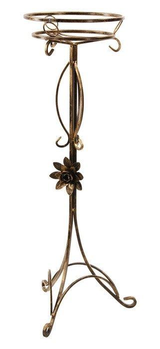 Kwietnik metalowy - Stojak na kwiaty - Rurka z różą