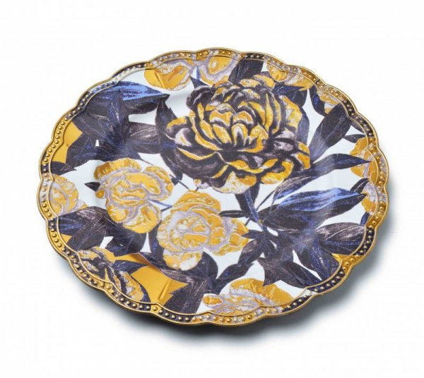 Podtalerz na stół - Dekoracyjne Kwiaty - 33cm - dekoracja stołu - decoart24.pl