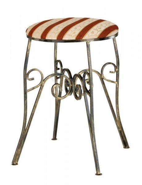Krzesło metalowe z miękkim siedziskiem - Sklep online