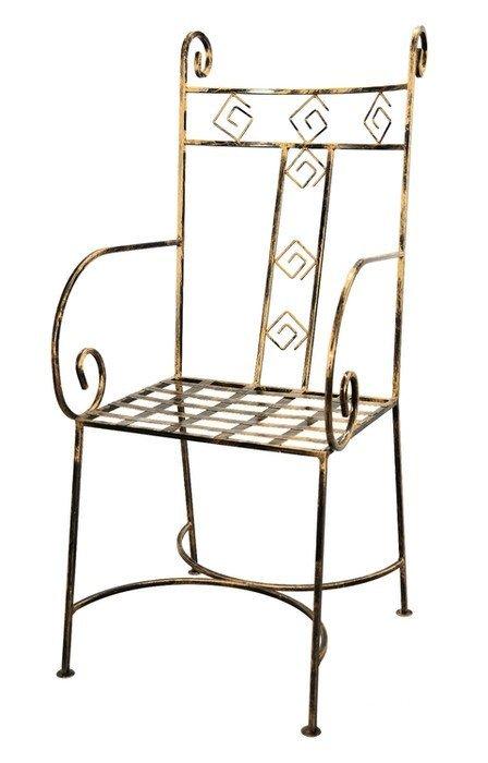 Krzesło ozdobne - Metalowe - Sklep