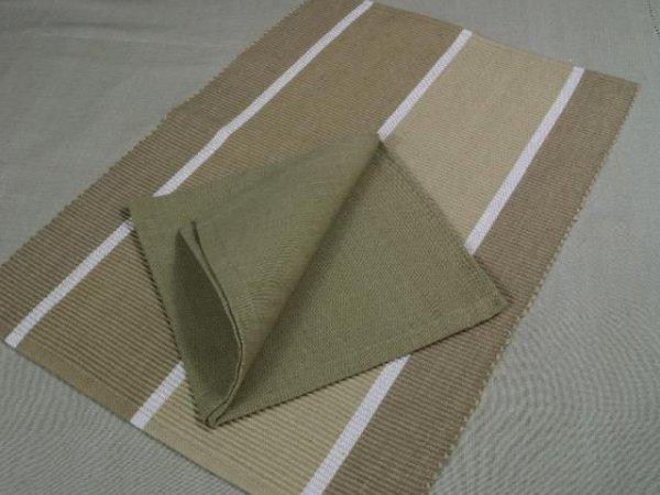 Podkładki na stół + Serwetki x 6-szt - Pasy