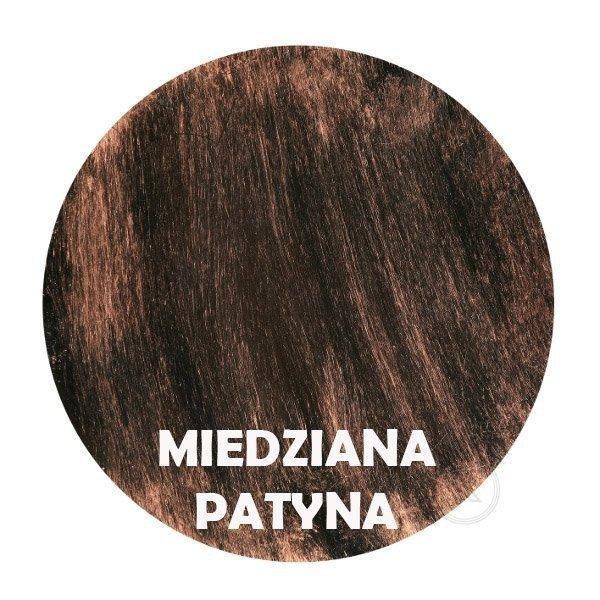 Miedziana patyna - kolorystyka metalu - Kwietnik metalowy - Sklep Online