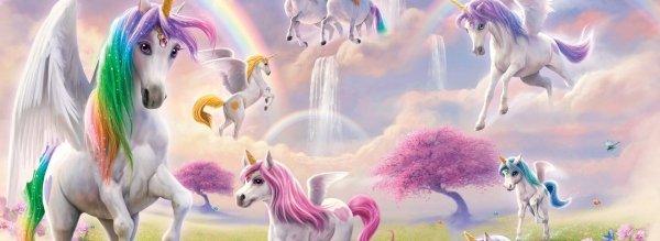 Fototapeta dla Dziewczynki - Jednorożce - Unicorn - 3D