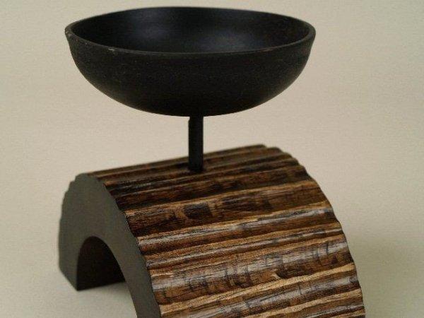 Świecznik - Drewno mango - 13x7x12cm