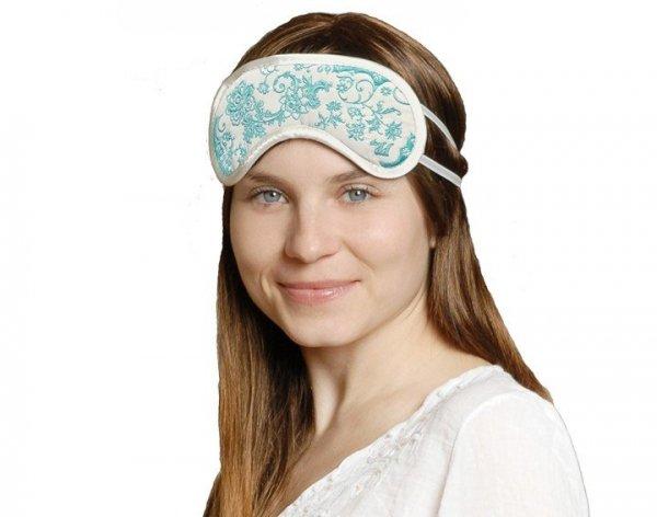Opaska na Oczy - SkinCare Flower white