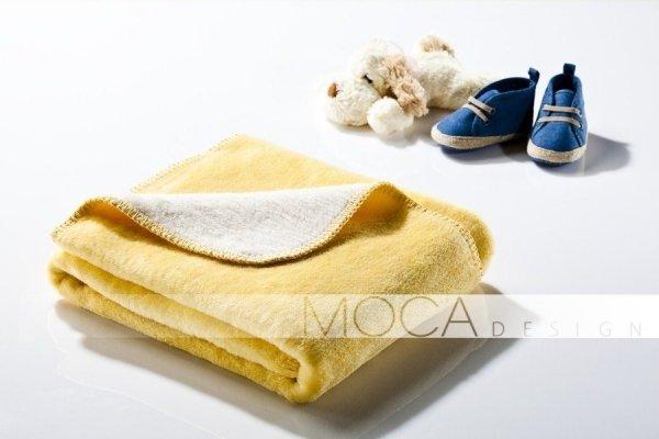 Kocyk dla dziecka - Żółto - Kremowy - 75x100 cm