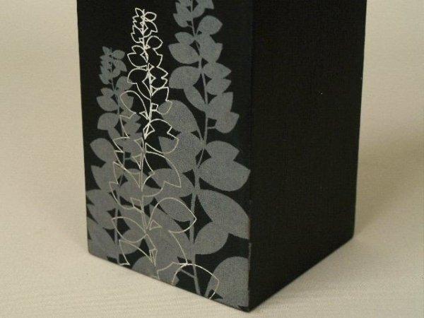 Świecznik - Motyw - Drewniany - 8x8x15cm