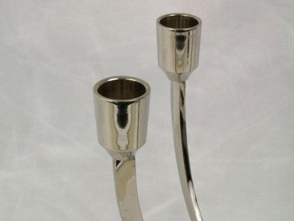 Świecznik - Mosiądz - x4, 18x14x21cm