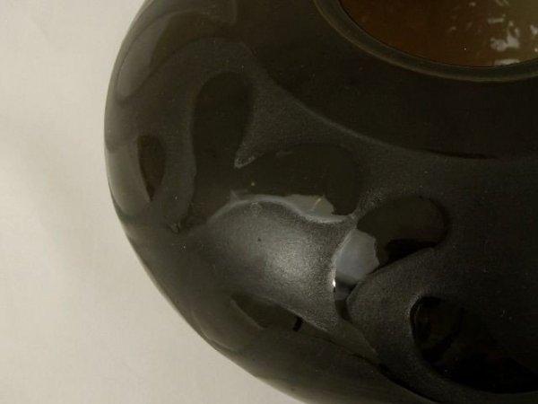 Wazon ceramiczny - Czarny - 20x18cm