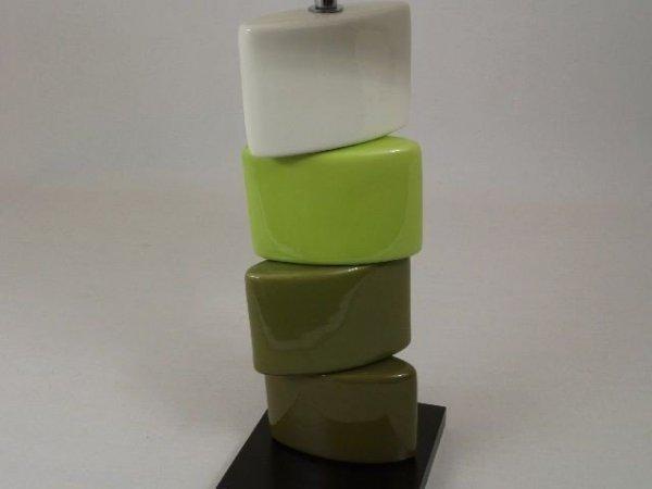 Lampa stołowa - Zieleń Klocki - 40x18x62cm
