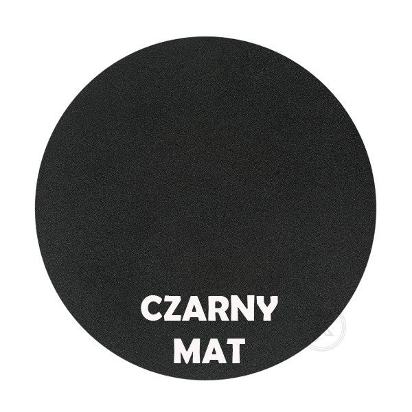 Czarny mat - Kolor kwietnika - 2-ka zdobiona - DecoArt24.pl